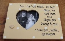 Shabby personalised Gift Chic Father Of The Bride Special Dad Photo Frame Plaque